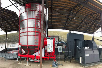 Зерносушилка Large 270 с теплогенератором ТПК 15